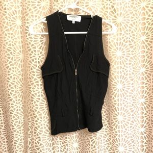 Late 90s early 00s YSL front zip vest top